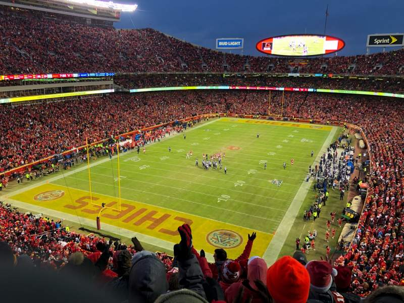 Seating view for Arrowhead Stadium Section 310 Row 7 Seat 9