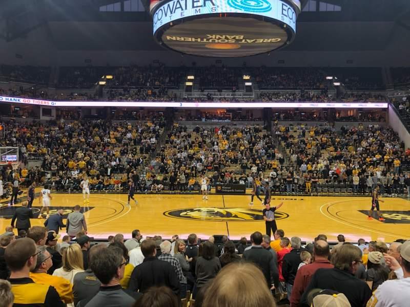 Seating view for Mizzou Arena Section 115 Row 12 Seat 13