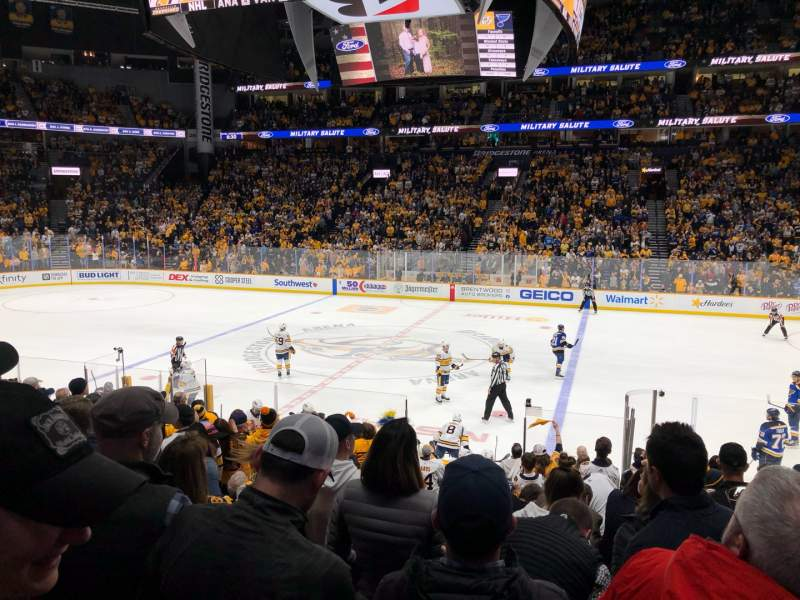 Seating view for Bridgestone Arena Section 116 Row C Seat 4