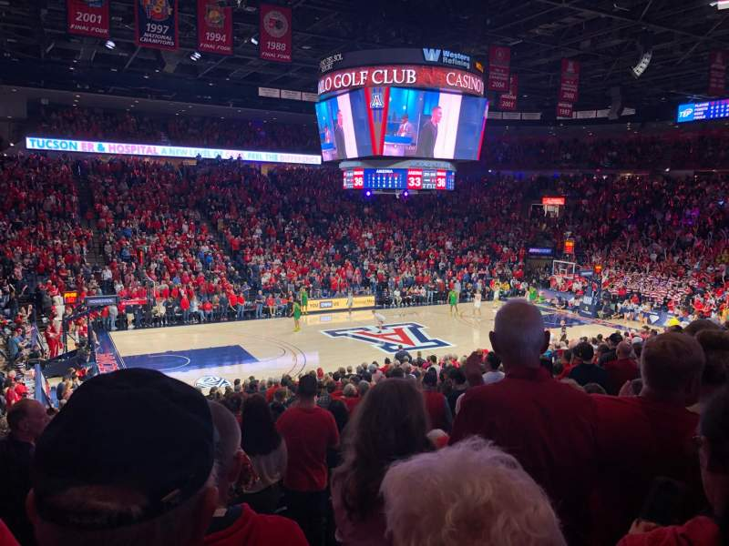 Seating view for McKale Center Section MI 5 Row 21 Seat 6