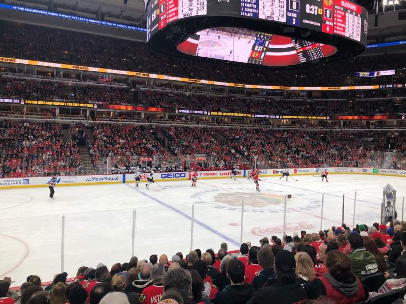 Seating view for United Center Section 113 Row 12 Seat 7
