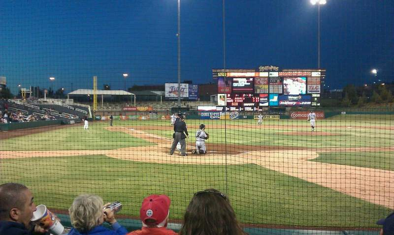 Seating view for Isotopes Park Section 104 Row E Seat 6