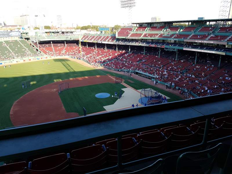 Seating view for Fenway Park Section 3rd Base Pavillion