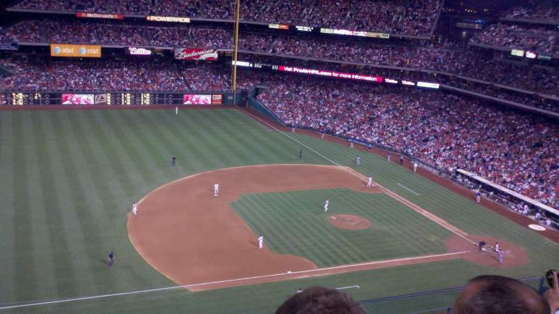 Seating view for Citizens Bank Park Section 428 Row 3 Seat 21