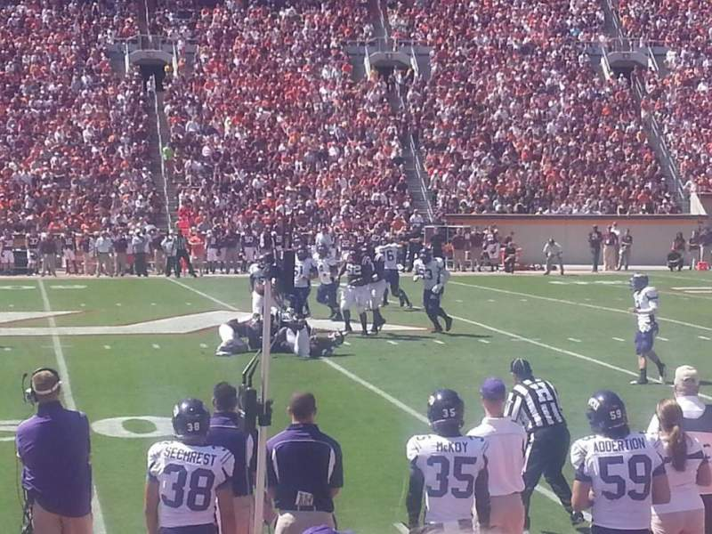 Lane Stadium, section: 9, row: G, seat: 23