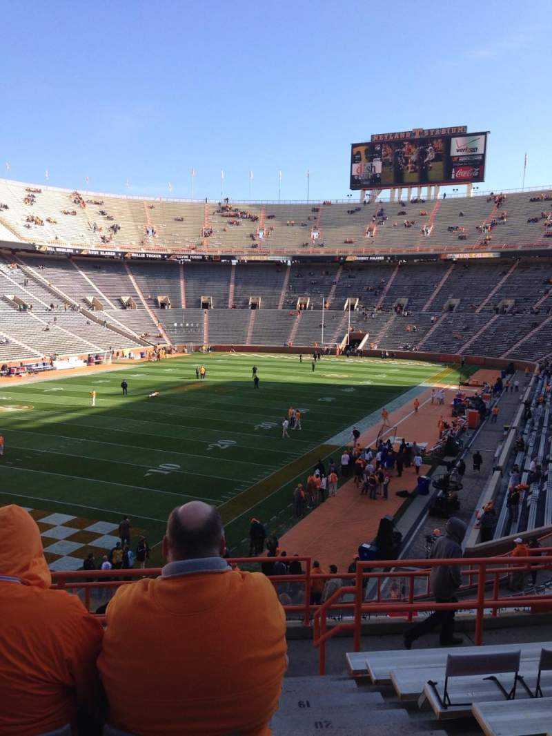Seating view for Neyland Stadium Section X5 Row 25 Seat 1