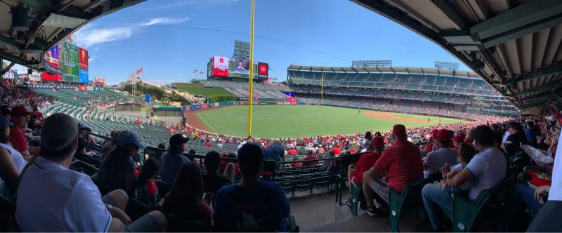 Seating view for Angel Stadium Section T204 Row D Seat 20