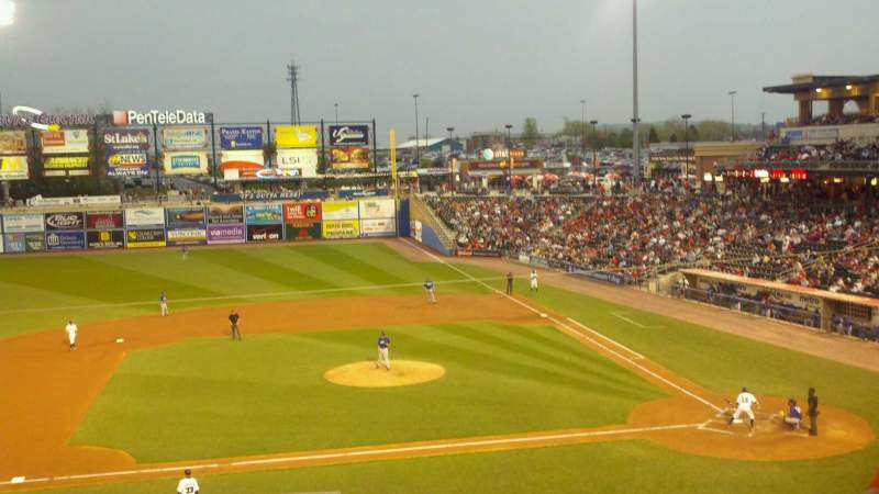 Seating view for Coca-Cola Park Section 212 Row D Seat 21