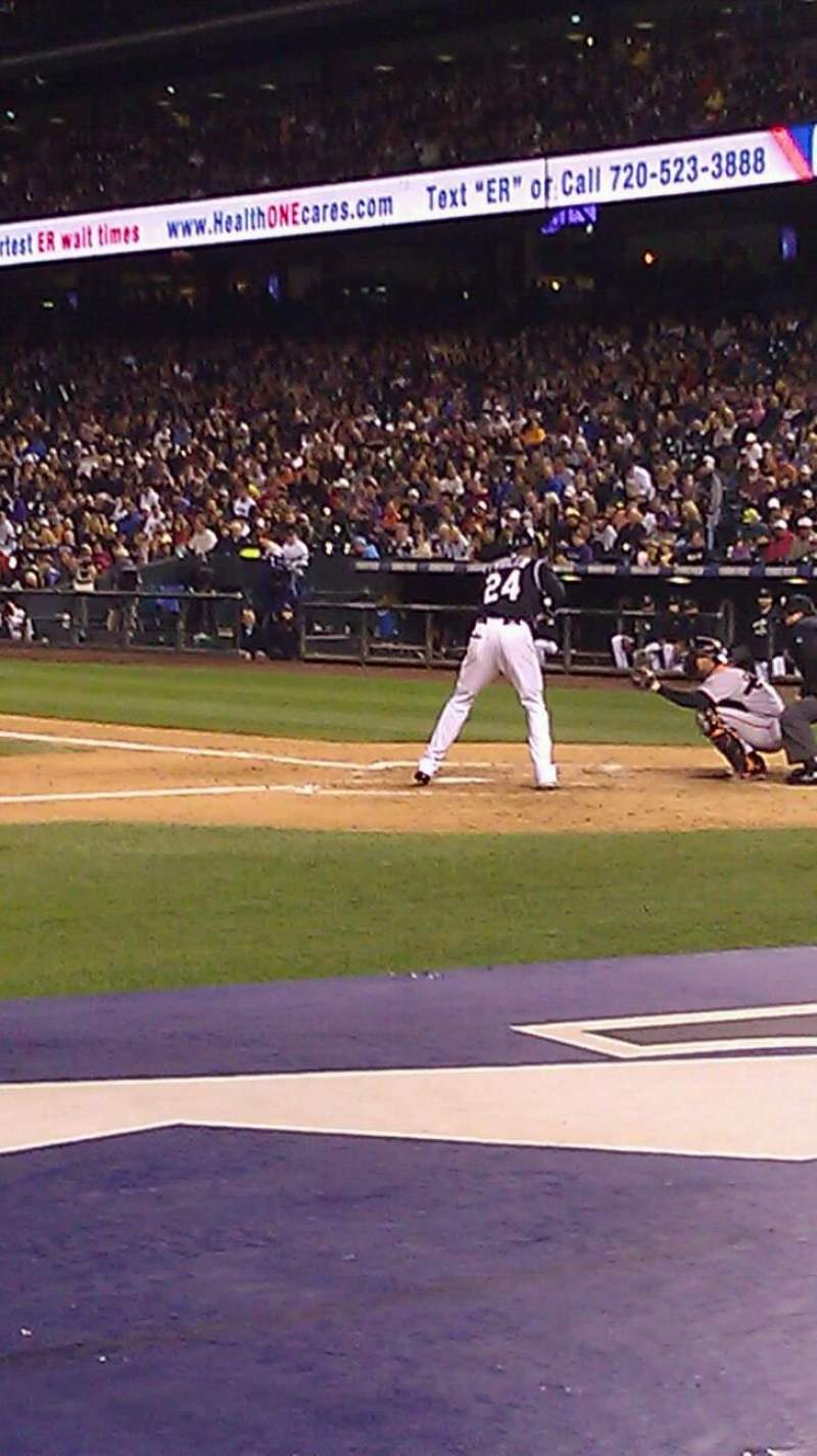 Seating view for Coors Field Section 137 Row 5 Seat 7
