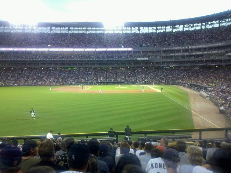 Seating view for Guaranteed Rate Field Section 158 Row 22 Seat 3