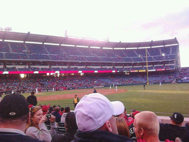 Seating view for Angel Stadium Section F129 Row J Seat 11