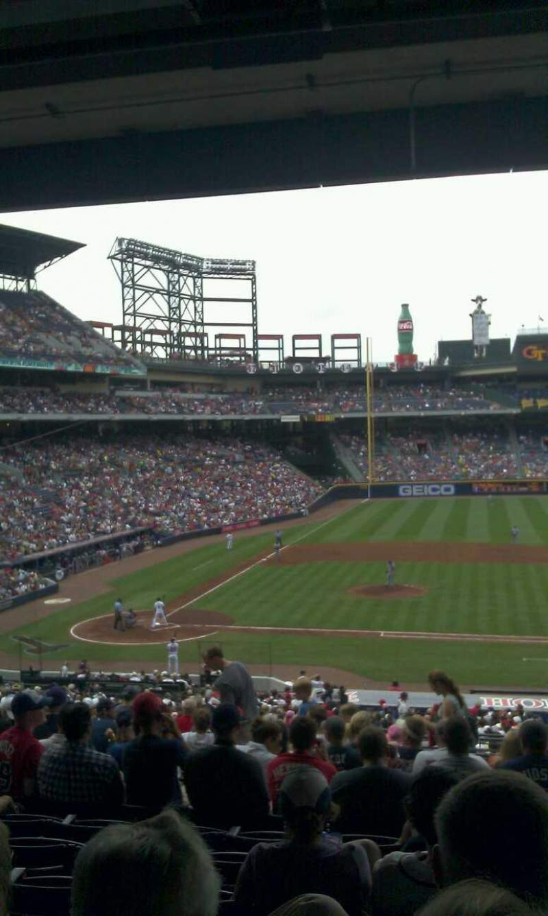 Seating view for Turner Field Section 213 Row 14 Seat 106