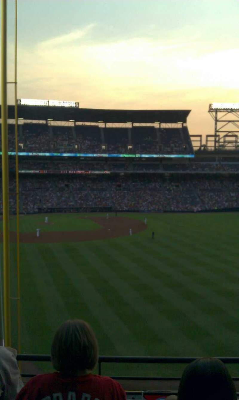 Seating view for Turner Field Section 331 Row 3 Seat 6