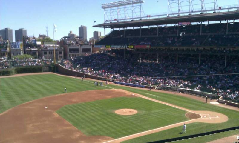 Seating view for Wrigley Field Section 411 Row 1 Seat 103