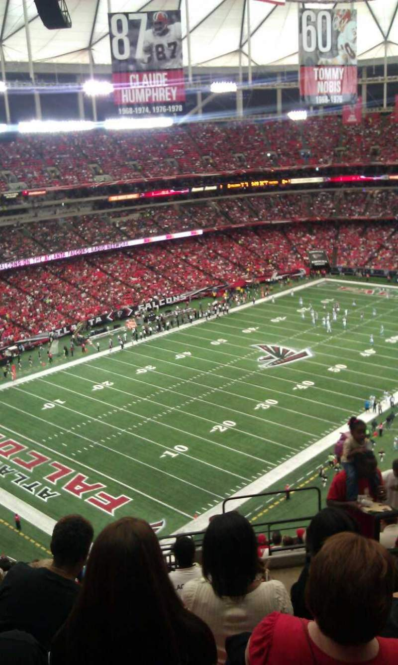 Seating view for Georgia Dome Section 303 Row 17 Seat 19