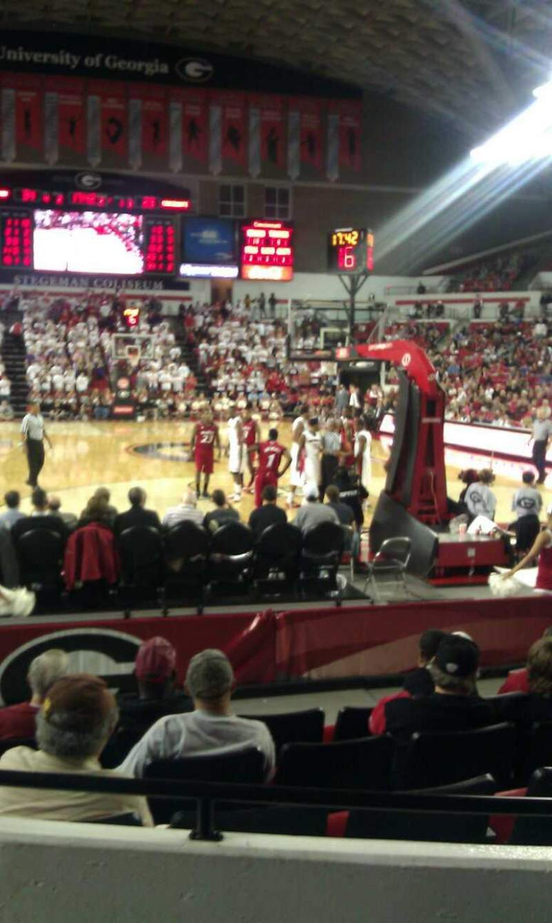 Seating view for Stegeman Coliseum Section N Row 3 Seat 6