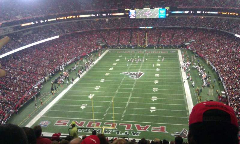 Seating view for Georgia Dome Section 307 Row 20 Seat 6