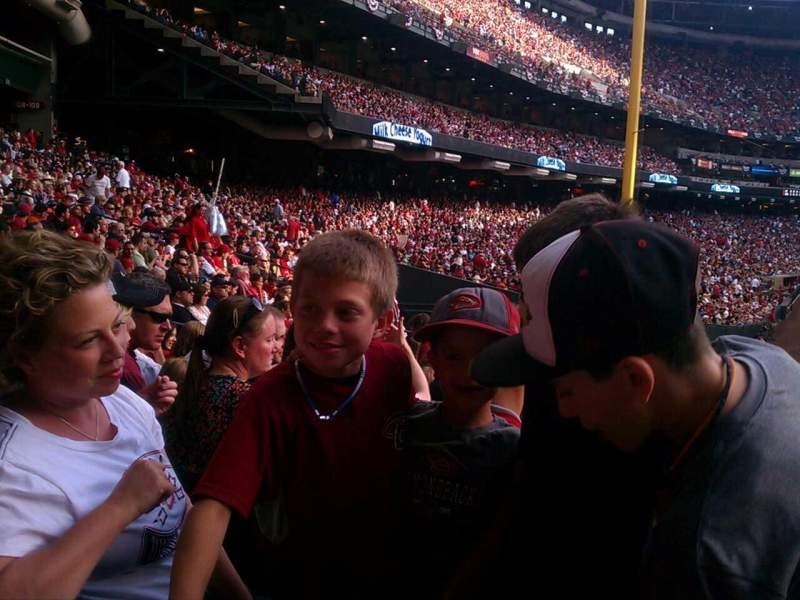 Seating view for Chase Field Section 105 Row 32 Seat 1