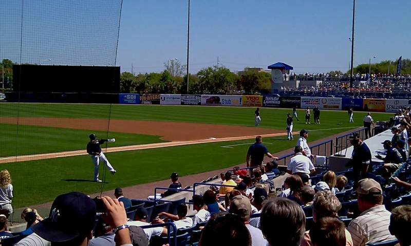 Seating view for George M. Steinbrenner Field