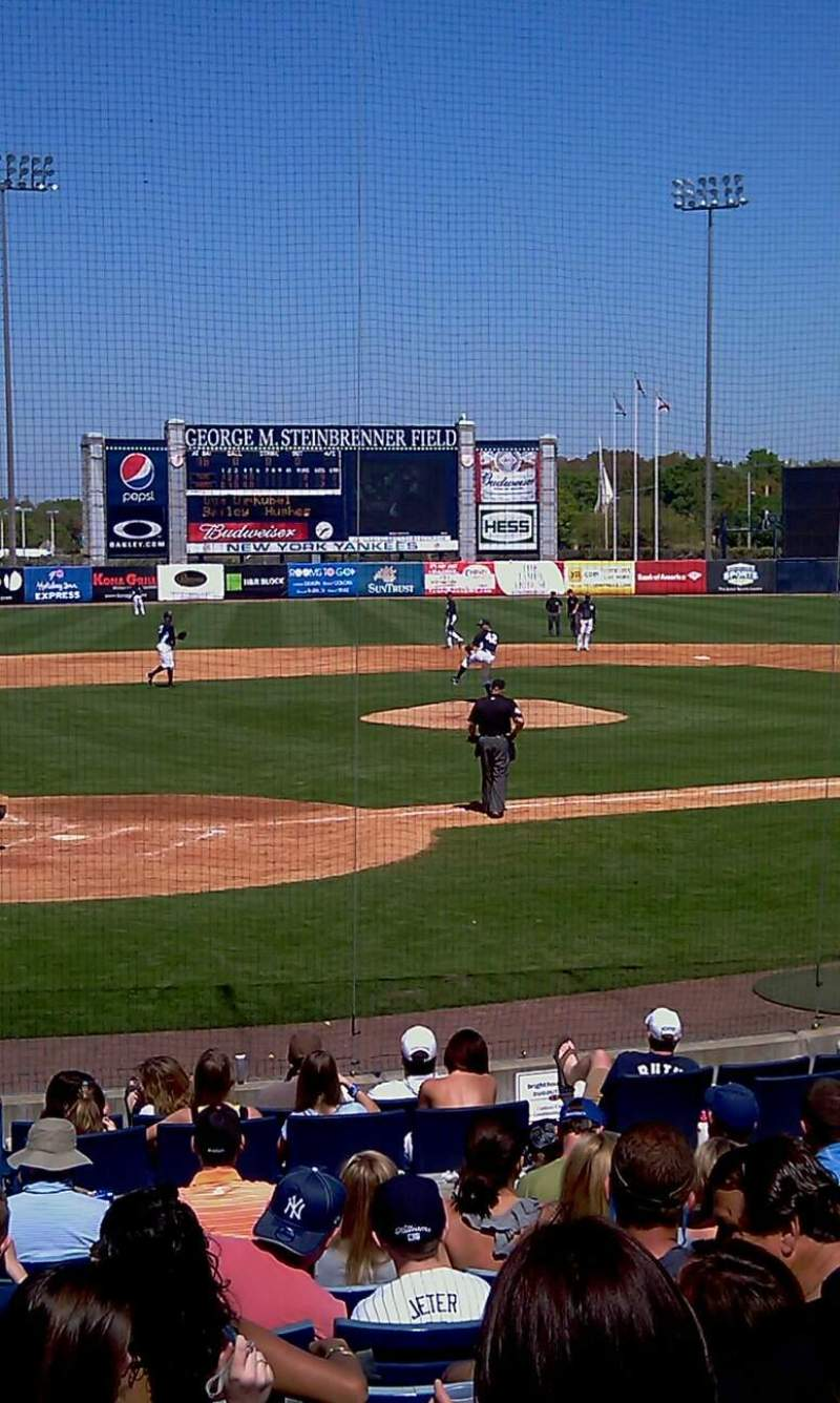 Seating view for George M. Steinbrenner Field Section 108