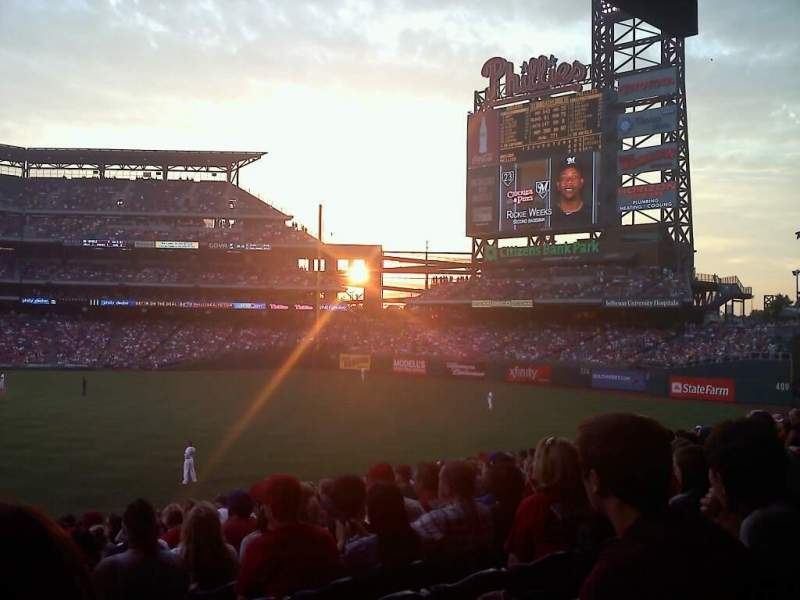 Seating view for Citizens Bank Park Section 106 Row 16 Seat 14