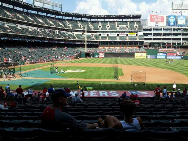 Seating view for Globe Life Park in Arlington Section 33 Row 23 Seat 8