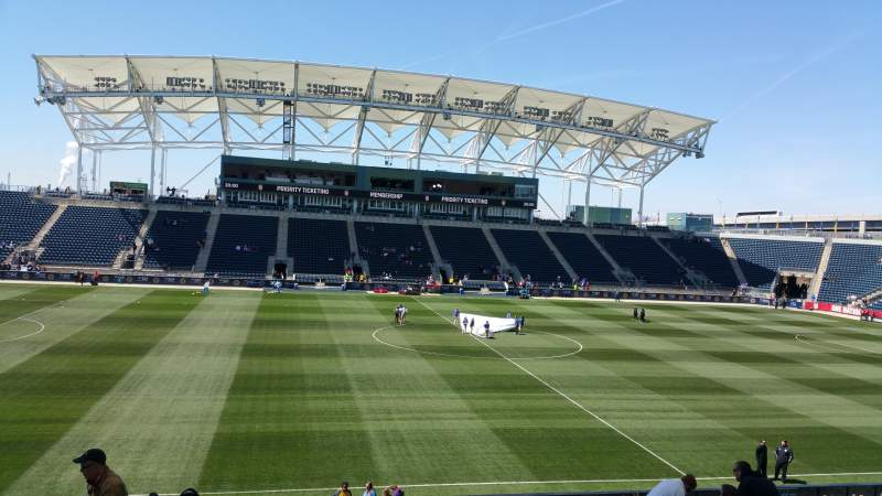 Seating view for Talen Energy Stadium Section 128 Row Z Seat 20