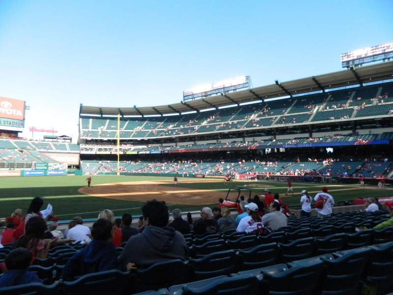 Seating view for Angel Stadium Section F109 Row M Seat 2