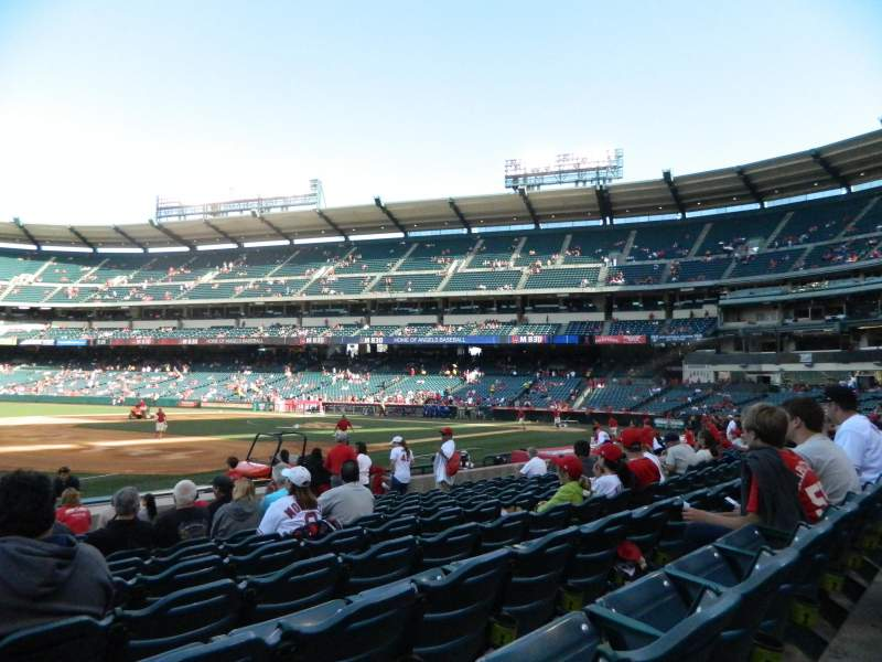 Seating view for Angel Stadium Section 109 Row M Seat 2