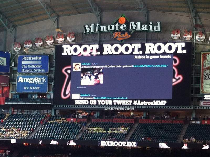 Seating view for Minute Maid Park Section 114 Row 32 Seat 3