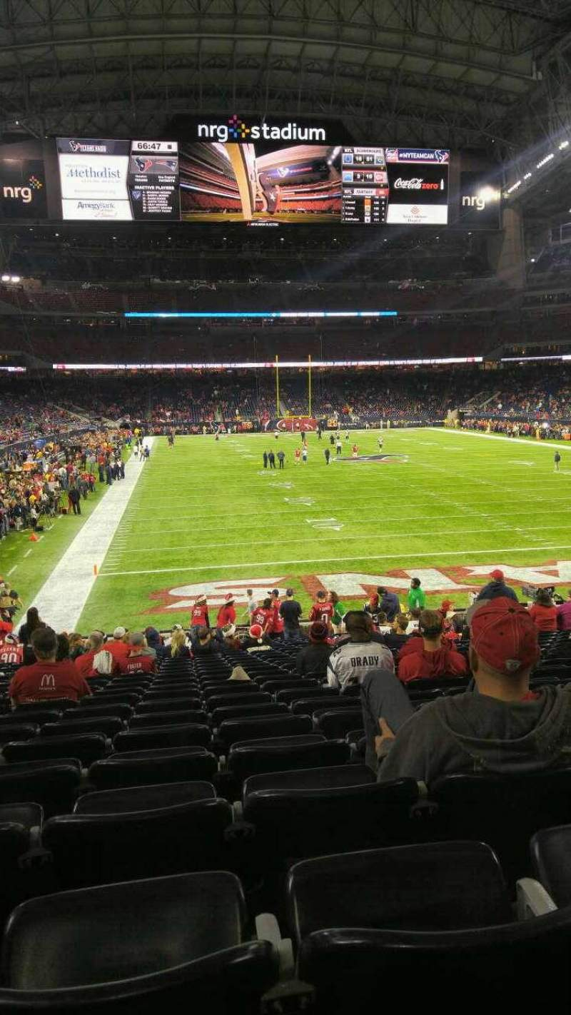 Seating view for NRG Stadium Section 138 Row x Seat 15