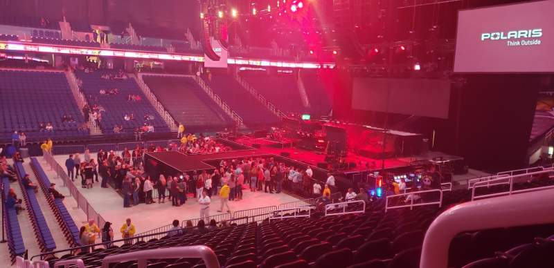 Seating view for Greensboro Coliseum Section 124 Row TT Seat 1