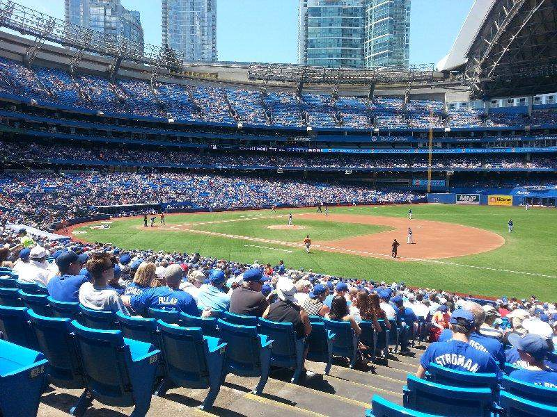 Seating view for Rogers Centre Section 114R Row 35 Seat 1