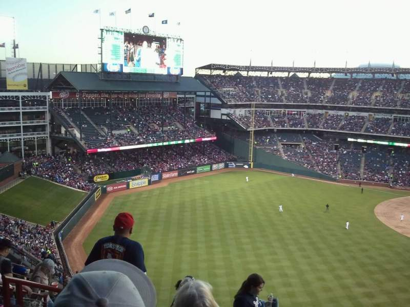 Seating view for Globe Life Park in Arlington Section 306 Row 12 Seat 5