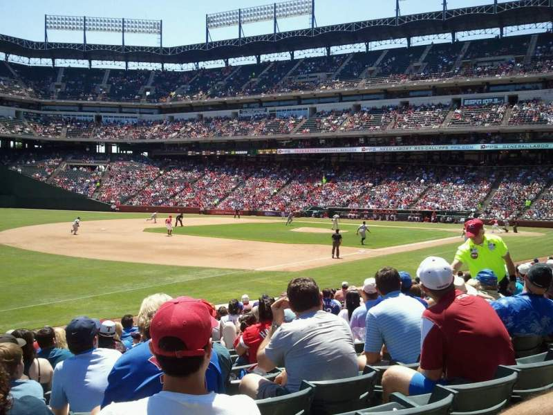 Seating view for Globe Life Park in Arlington Section 15 Row 14