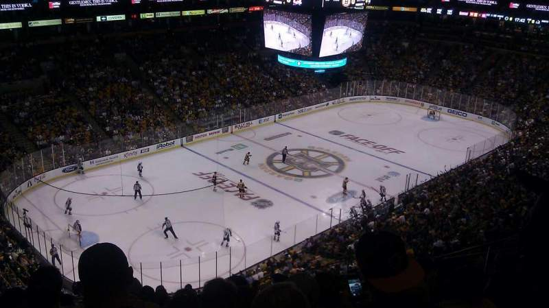 Seating view for TD Garden Section Bal 305 Row 13 Seat 9