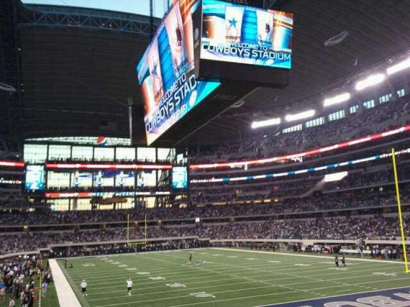 Seating view for AT&T Stadium Section 150 Row 15 Seat 21