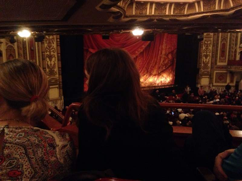 Seating view for Cadillac Palace Theater Section Dress circle l Row mm Seat 13