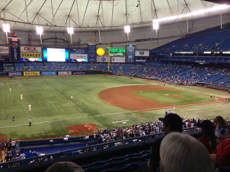 Seating view for Tropicana Field Section 217 Row G Seat 1