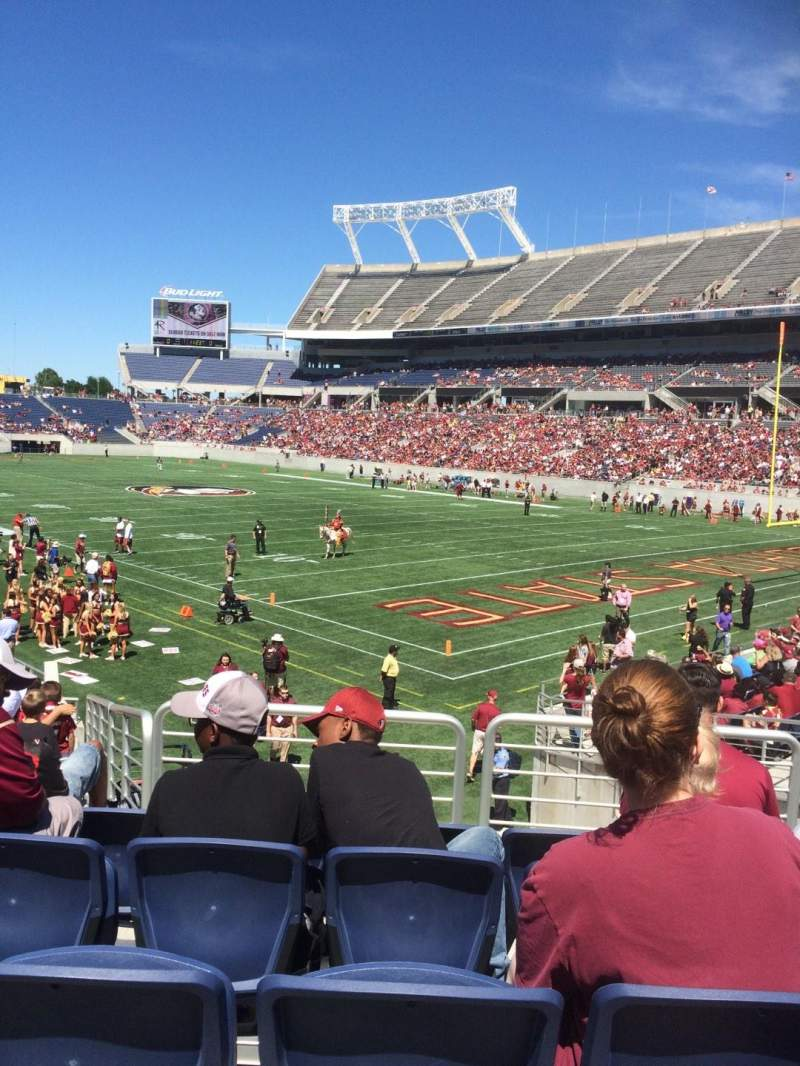Seating view for Camping World Stadium Section 127 Row U Seat 28