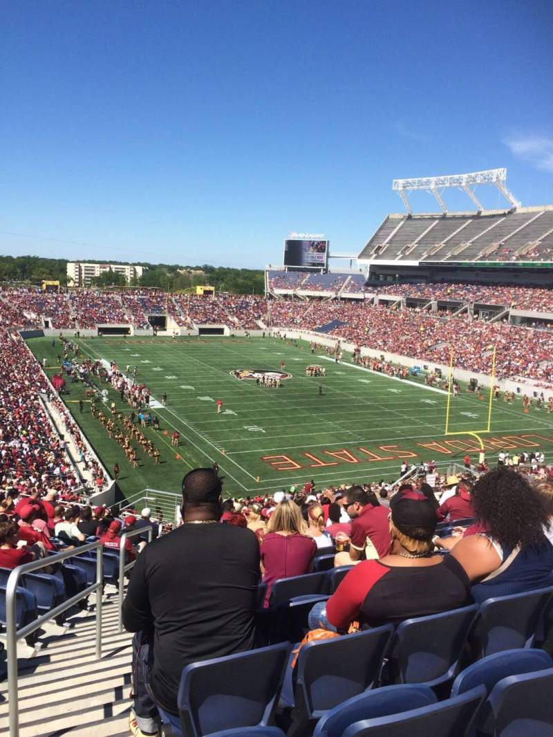 Seating view for Camping World Stadium Section P24 Row T Seat 26