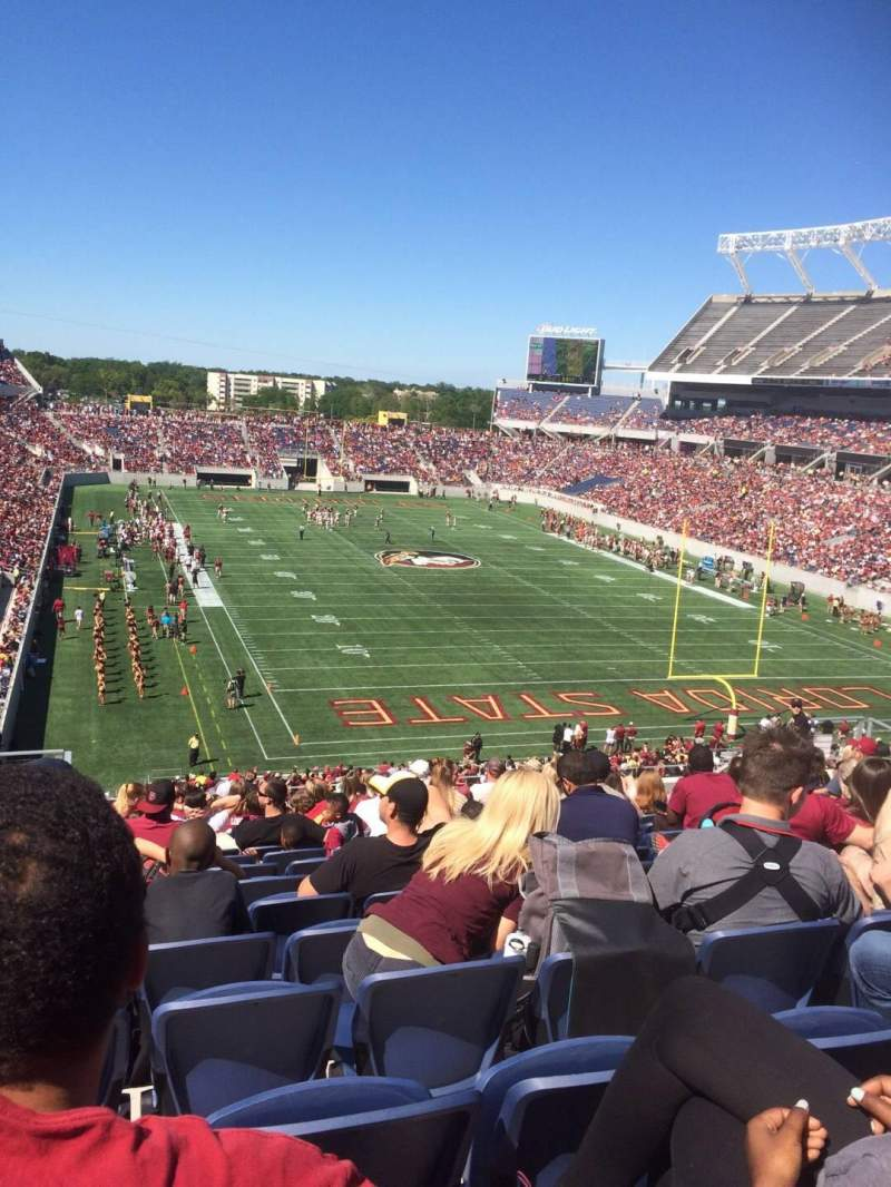 Seating view for Camping World Stadium Section P23 Row R Seat 23