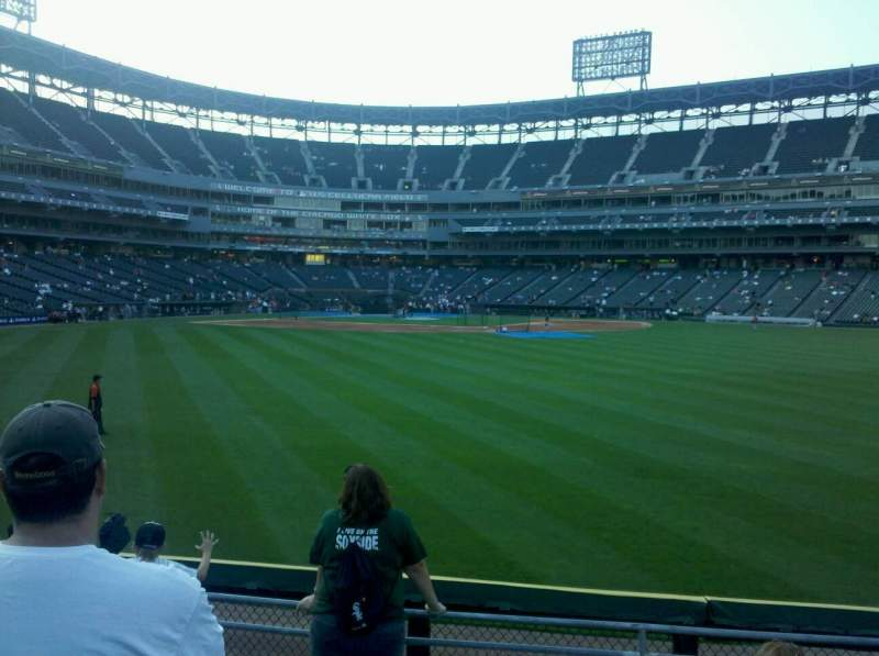 Seating view for U.S. Cellular Field  Section 102 Row 6 Seat 11