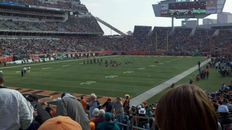 Seating view for Paul Brown Stadium Section 120