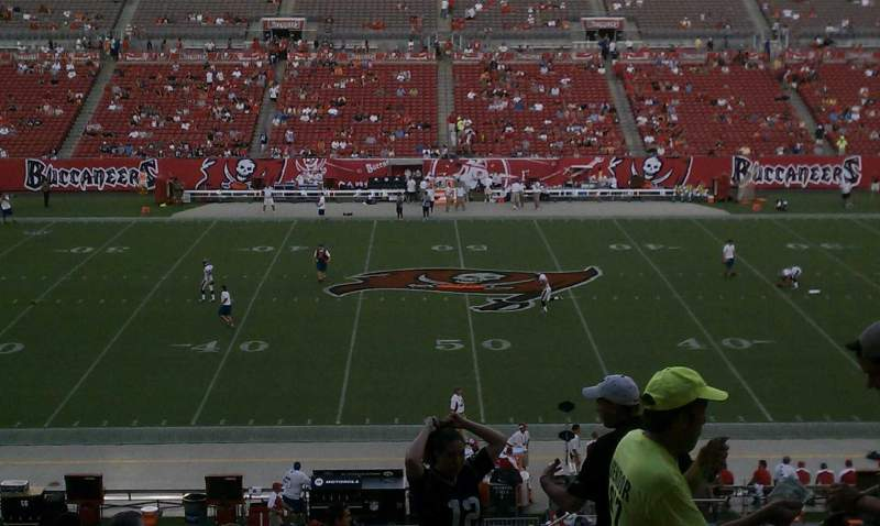 Seating view for Raymond James Stadium Section 210 Row T Seat 21