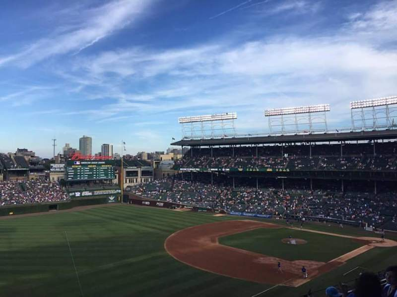Seating view for Wrigley Field Section 406 Row 6 Seat 105