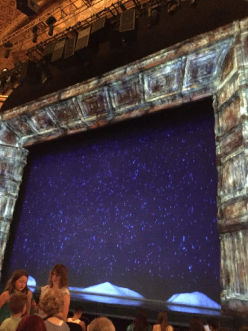 Seating view for St. James Theatre Section Orchestra R Row J Seat 12