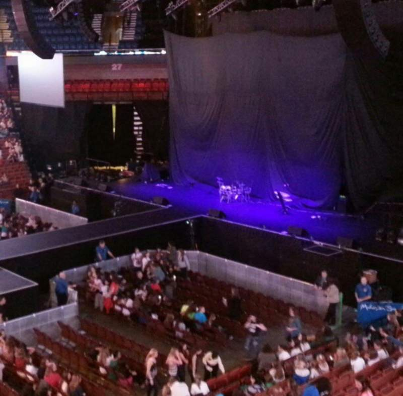 Seating view for Mohegan Sun Arena Section 107 Row A Seat 13,14