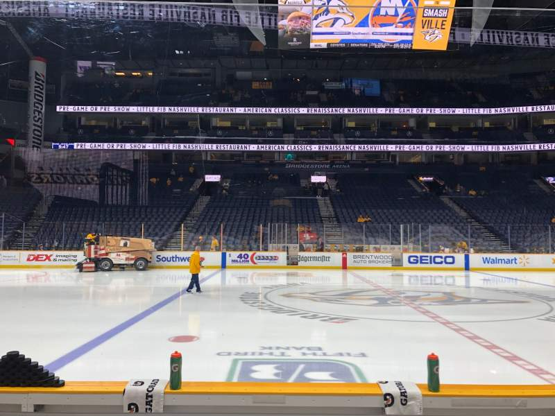 Seating view for Bridgestone Arena Section 115 Row DD Seat 7