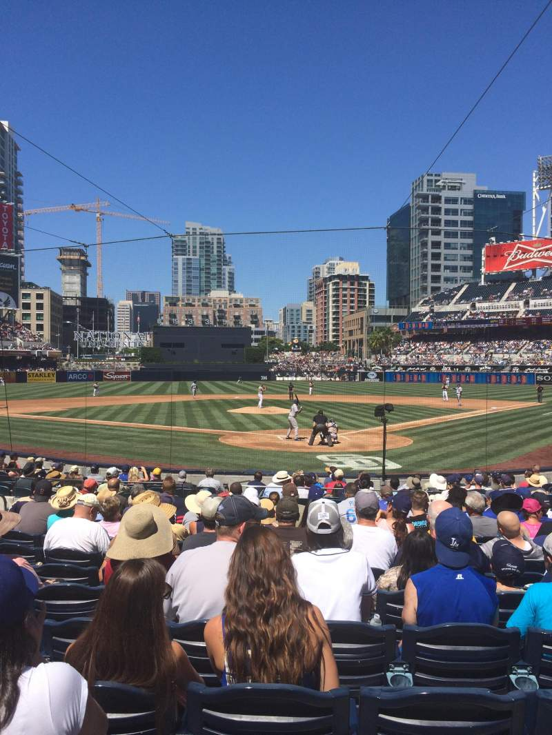 Seating view for PETCO Park Section 102 Row 19 Seat 11